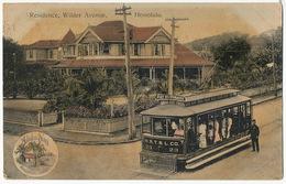 Aloha Nui   Residence , Wilder Avenue Honolulu Tram Close Up   No 179 Curio Honolulu Used 1909 To Cienfuegos Cuba - Honolulu