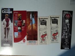 LOT DE 6 MARQUES PAGES. ANNEES 90 / 2000 LIVRE DE POCHE / CHRISTIANE COLLANGE CHEZ FAYARD / BAIE DES BULLES A DIVES SUR - Bookmarks