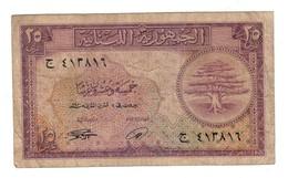 Lebanon 25 Piastres 1950 .J. - Lebanon