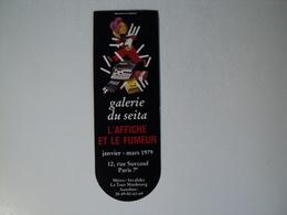 VIEUX MARQUE PAGE MUSEE DU SEITA DE 1979 12 RUE SURCOUF A PARIS 17. L AFFICHE ET LE FUMEUR DE JANVIER A MARS 1979. - Bookmarks