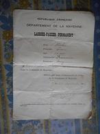LAISSEZ PASSER PERMANENT Département De La Mayenne 1914 - Documents