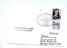 Carte Vol Annule Frankfurt Chicago - Airplanes