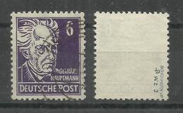 """Sowjetische Zone 213a """" 6 Pfg.-Einzelmarke Aus Köpfe 1-Satz Mit WZ 3"""" Gestempelt, Geprüft Mi.:2,00 - Zone Soviétique"""