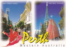 Postcard Perth Western Australia Hay Street Mall And The Bell Tower My Ref  B23084 - Perth