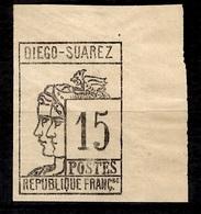 Diégo-Suarez YT N° 8 Neuf *. Bord De Feuille Signé Maury. B/TB. A Saisir! - Diego-suarez (1890-1898)