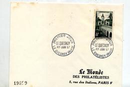Lettre Fdc 1957 Le Quesnoy - 1950-1959