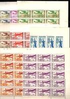 AEF Poste Aérienne Maury N° 1/8 En Blocs De 14 Et 15 Timbres Neufs ** MNH. TB. A Saisir! - A.E.F. (1936-1958)