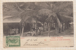 8AK2895 CONGO FRANCAIS FACTORERIE DE TRAITE HOLLANDAISE 1906  2 SCANS - Congo Français - Autres