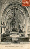 CPA - APPEVILLE-ANNEBAULT (27) - Aspect De L'intérieur De L'Eglise En 1910 - Otros Municipios