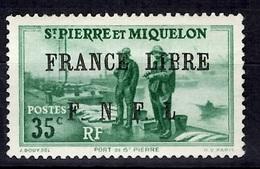 Saint-Pierre Et Miquelon France Libre YT N° 254 Neuf *. B/TB. A Saisir! - St.Pierre & Miquelon