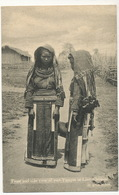 Front And Side View Of Two Yawyin Or Lissyn Women In Gala Attire - Myanmar (Birma)