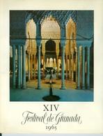 XIV Festival De Granada 1965 Programme Détaillé - Musique & Instruments