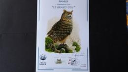 """Buzin - Souvenir A4:  Namur 2018 """" Le Grand Duc"""" Tirage 350ex (143/350) - Cartes Souvenir"""