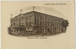 Strand Hotel Rangoon Sarkies Bros, Proprietors  Crease Bottom Right Corner - Myanmar (Birma)