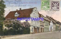 99812 CZECH REPUBLIC GROTTAU VIEW PARTIAL CIRCULATED TO ARGENTINA POSTAL POSTCARD - Tsjechië