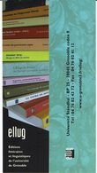 """Mp """" ELLUG """" Ed. Littéraires Et Linguist. Université De Grenoble - Marque-Pages"""