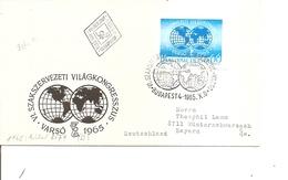 Hongrie ( FDC De 1965 Avec Timbre Non Dentelé à Voir) - FDC