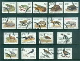 South Africa 1993-5 Wildlife Defins Asst,(18)Bird, Reptile  FU - South Africa (1961-...)