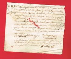 1 Document ... DOMFRONT  En 1771 Cachet De Généralité ALENÇON - Seals Of Generality