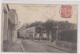 CPA- B35 TAVERNY La Rue De Paris Et Place De Vaucelles-maisons-arbres-belle Animation - Taverny