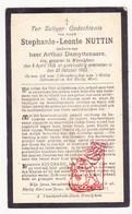 DP Stephanie L. Nuttin ° Wevelgem 1855 † 1922 X A. DeMyttenaere - Devotion Images