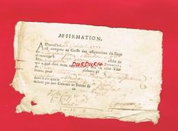 1 Document ... Greffe Des Affirmations Du Siège DOMFRONT  En 1777 Cachet De Généralité ALENÇON - Cachets Généralité