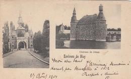 HUY / LE CHATEAU DE JEHAY  / ENTREE ET VUE SUR LE CHATEAU  1901 - Hoei