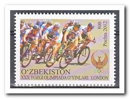 Oezbekistan 2012, Postfris MNH, XXX Yozgi Olimpiada London, Bicycle - Oezbekistan