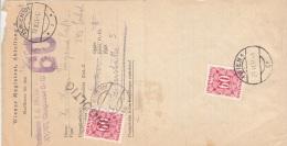 ÖSTERREICH NACHPORTO 1951 - 2 X 60 Gro Portofrankierung Auf Mahnung Der MA-Wien Als Faltbrief, Gel.Wien - Portomarken