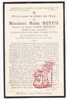 DP Moïse J. Nuttin ° Luingne 1863 † Moeskroen Mouscron 1925 X Flore Spender - Devotion Images