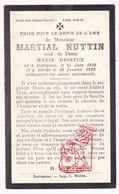 DP Martial Nuttin ° Dottignies Moeskroen Mouscron 1846 † 1922 X M. Desreux - Devotion Images