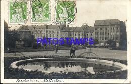 99826 CZECH REPUBLIC PRDUBICE VIEW BUILDING CIRCULATED TO ARGENTINA POSTAL POSTCARD - Tchéquie