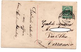 14.2.17  Annullo Ambulante Sassari - Nuoro Su Cartolina Postale - 1900-44 Vittorio Emanuele III