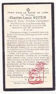 DP Charles L. Nuttin ° Dottignies 1843 † Herseaux 1924 X Fidéline Parmentier / Moeskroen Mouscron - Devotion Images