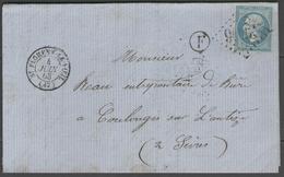 Maine Et Loire:  G.C.3596 Sur N°22 + CàD ST FLORENT-LE-VIEIL(47) Sur LAC De 1863 (origine BOTZ) - Marcophilie (Lettres)