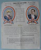 BERGERAC - DORDOGNE / 1877 PROFESSION DE FOI BONAPARTISTE SOUS BANDE / RARE (ref 7330) - 1876-1898 Sage (Type II)