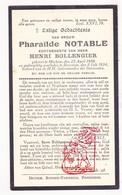 DP Pharaïlde Notable ° Merkem Houthulst 1886 † Boezinge Ieper 1934 X H. Bollengier - Devotion Images