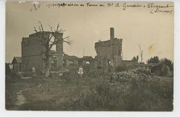 GUERRE 1914-18 - FLAUCOURT - Belle Carte Photo Animée Du Village En Ruines (Ferme ) - France