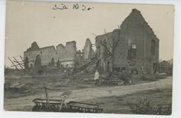 GUERRE 1914-18 - FLAUCOURT - Belle Carte Photo Animée Du Village En Ruines - France