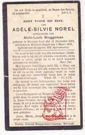 DP Adèle S. Norel ° Wervik Zuid Wervicq-Sud FR Nord 1872 † Wervik BE 1931 X Aloïs L. Bruggeman - Devotion Images
