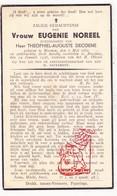 DP Eugenie Noreel ° Menen Menin 1882 † Boezinge Ieper 1936 X Th. DeCoene - Devotion Images