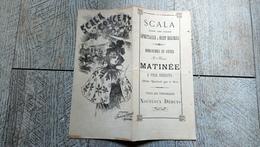 Programme La Scala Tours 37 Café Restaurant Orchestre Chant Danse Publicités Commerces - Programmi