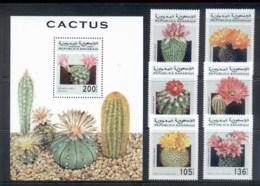 Sahara Occidental 1997 Cacti Flowers + MS MUH - Stamps