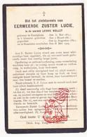 DP EZ Leonie Nollet - Zr. Lucie ° Emelgem Izegem 1859 † Rumbeke Roselare 1929 - Devotion Images