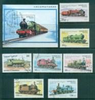 Sahara Occidental 1997 Trains, Railways + MS CTO - Stamps