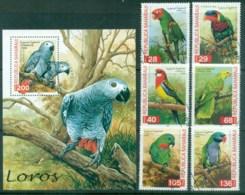 Sahara Occidental 1998 Parrots + MS CTO - Stamps