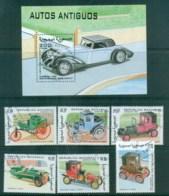 Sahara Occidental 1998 Vintage Cars + MS CTO - Stamps