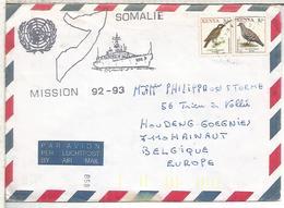 KENYA  UNITED NATIONS MISSION 1992-93 SOMALIA BNS ZINNIA BELGIAN NAVY - ONU