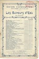 Partition - Les Buveurs D'eau - Duo Bachique De La Collection Des Duos Comiques Pour Hommes (avec Et Sans Parlé) Lambert - Scores & Partitions
