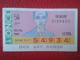 CUPÓN DE ONCE SPANISH LOTTERY CIEGOS SPAIN LOTERÍA BLIND ESPAGNE 1988 MÚSICO MÚSICA CLÁSICA MUSIC IGOR STRAVINSKY VER FO - Billets De Loterie